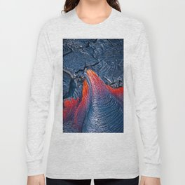 Kilauea Volcano Lava Flow. 3 Long Sleeve T-shirt