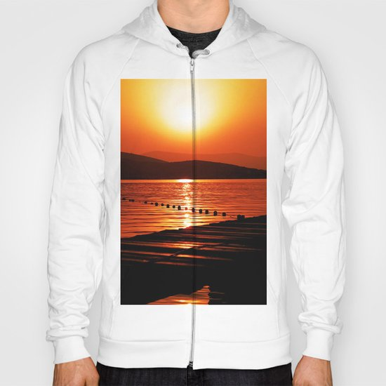 Turkish Sunset on Dock Hoody