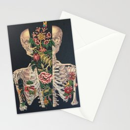 Skeleton of flowers Stationery Cards