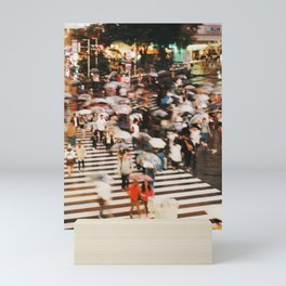 Shibuya Crossing at Night Mini Art Print