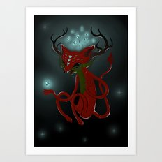 Magic Fox Art Print