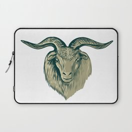 Cashmere Goat Head Drawing Laptop Sleeve