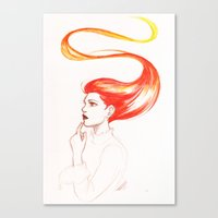 redhead Canvas Prints featuring Redhead by AndytheLemon