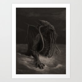 Cthulhu Rises Art Print