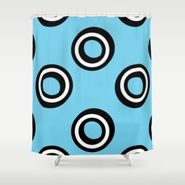 Round Circles Shower Curtain