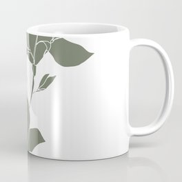 Botanical illustration line drawing - Magnolia Green Coffee Mug