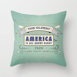 Sweaty Shirts Throw Pillow