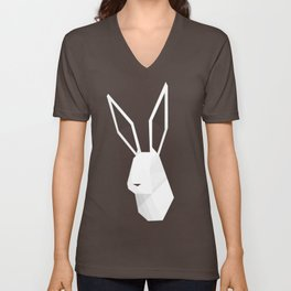 Geometric Rabbit Unisex V-Neck