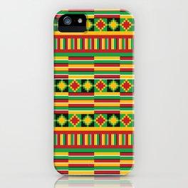 Kente pattern iPhone Case