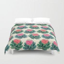 Protea flower garden Duvet Cover