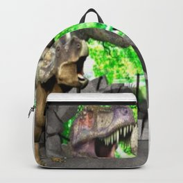 3D Dinosaurs and Broken Wall Backpack