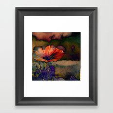 Her Dreams Were Vivid and Colorful Framed Art Print