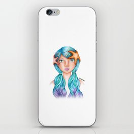 "Element Girls Drawing - ""Water""  iPhone Skin"