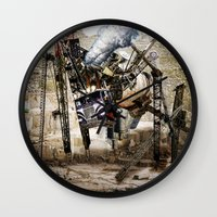 truck Wall Clocks featuring Monster Truck by Jonathan Sims