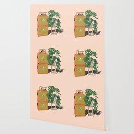 Orange Monstera Wallpaper