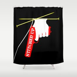 Stitched Up Shower Curtain