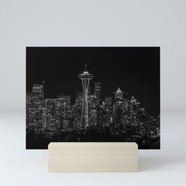 Seattle City Lights Mini Art Print