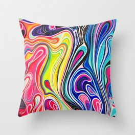 Untitled Colorful Acrylic Painting Throw Pillow