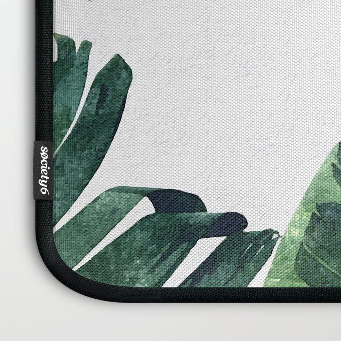 Banana Leaf Watercolor #society6 #buy #decor Laptop Sleeve