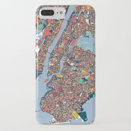 New York City Abstract Map Art iPhone Case