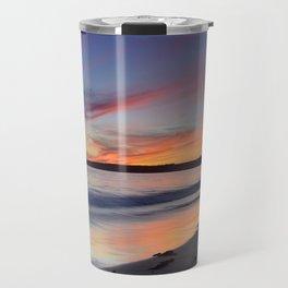 """""""Bolonia beach at sunset"""" Travel Mug"""