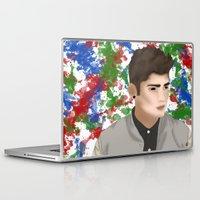 1d Laptop & iPad Skins featuring Zayn 1D by Maranda Rae