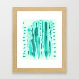 Teal Framed Art Print
