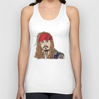 jack sparrow Tank Tops featuring Jack Sparrow - Pirates - Carribbean - JonnyDepp - Depp by Matty723
