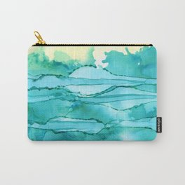Green & Turq Abstract Horizon Carry-All Pouch