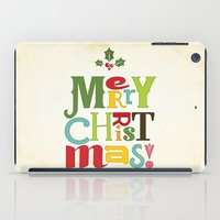 merry christmas iPad Cases featuring Merry Christmas! by Noonday Design
