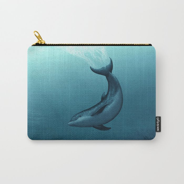 """Siren of the Blue Lagoon"" by Amber Marine ~ Dolphin Art, Digital Painting, (Copyright 2015) Carry-All Pouch"