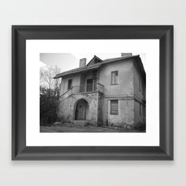 Lost on a half Framed Art Print