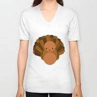turkey V-neck T-shirts featuring Turkey by StephyLe
