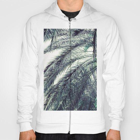 Teal Palm Tree Hoody