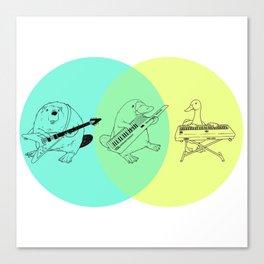Keytar Platypus Venn Diagram Canvas Print