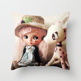 Blythe My Dear friend Bambi 2 Throw Pillow