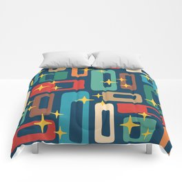 Retro Mid Century Modern Abstract Pattern 221 Comforters