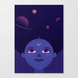 Cosmic Woman Canvas Print