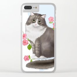 Cat ari Clear iPhone Case