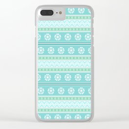 Floral Easter Pattern E Clear iPhone Case