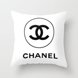 White C Throw Pillow