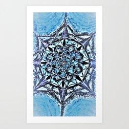 Icy Blue Mandala Art Print