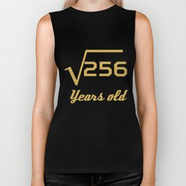 Square Root Of 256 Funny 16 Years Old 16th Birthday Biker Tank