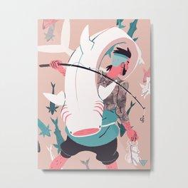Sir Fish Metal Print