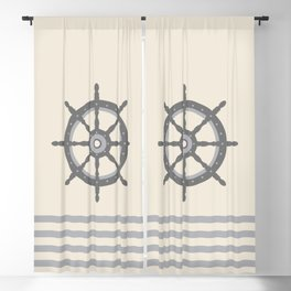 AFE Gray Helm Wheel Blackout Curtain