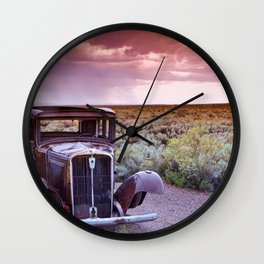 Painted desert, Arizona. Wall Clock