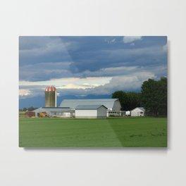 Verdant Farmland Metal Print