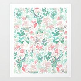 Flirt Mint Blush Art Print