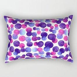 Brighr watercolor circles Rectangular Pillow