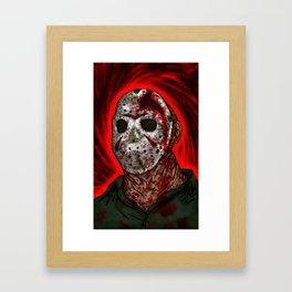 Fornication Terrorist Jason Voorhees Friday the 13th Framed Art Print
